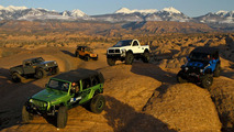 Moparized Jeep and Ram vehicles at the 2010 44th annual Easter Jeep Safari in Moab, Utah, 01.04.2010
