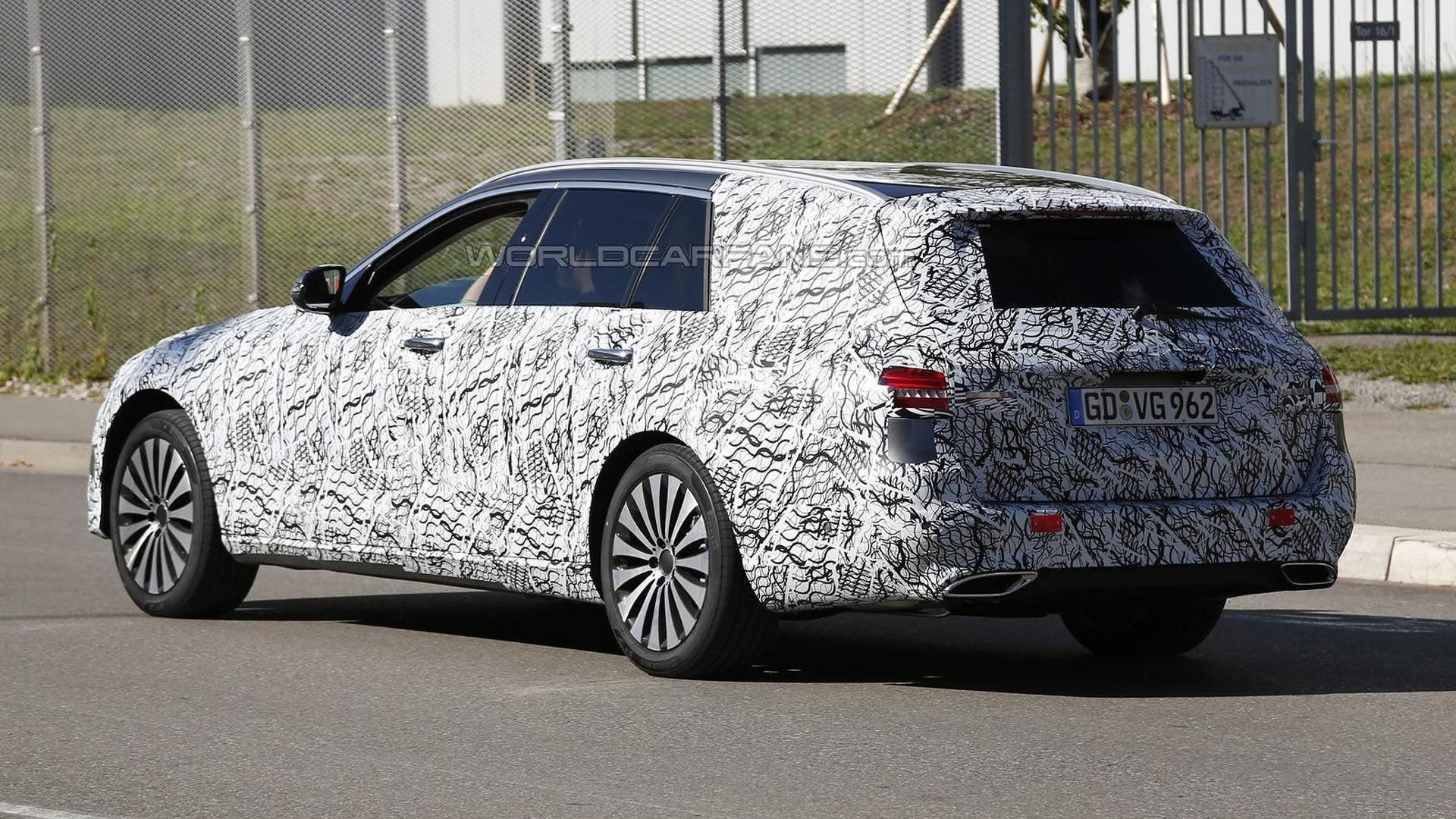 Next generation Mercedes-Benz E-Class keeps full body camo in latest spy shots