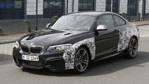 2016 BMW M2 spied up close undergoing testing