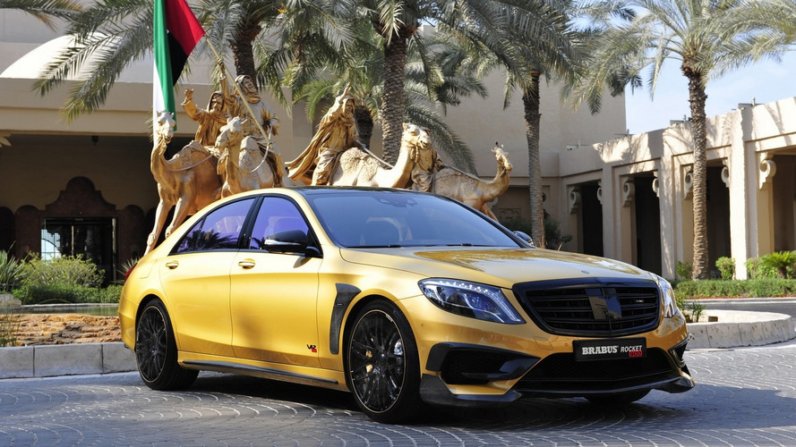 Brabus blings Dubai with 900 PS gold Mercedes S65 AMG