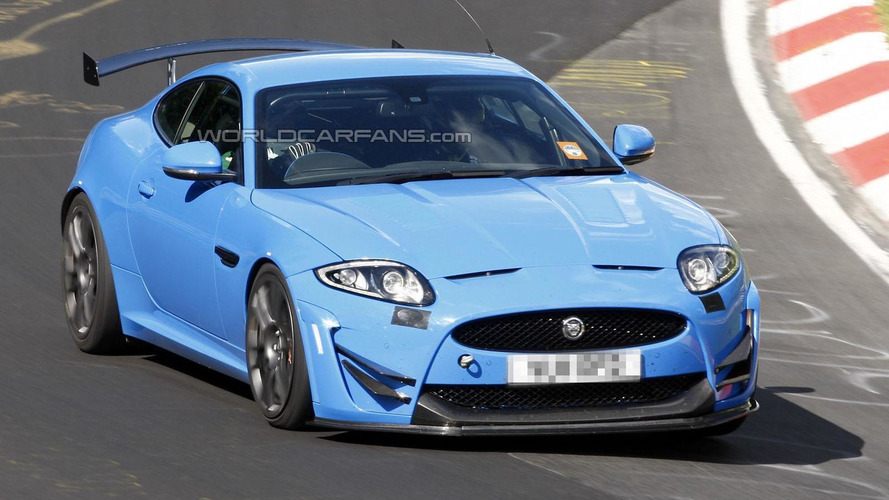 Track-focused Jaguar XKR-S spied on the Ring