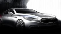 Kia K9 flagship sedan sketches released