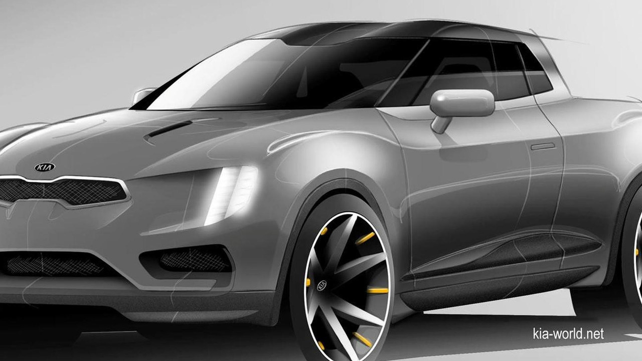 Kia small pick-up truck concept render (not confirmed)