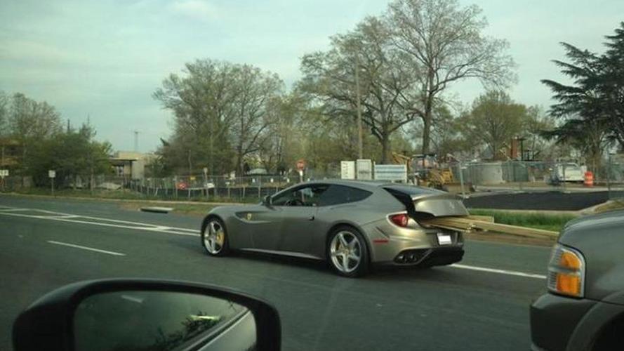 Ferrari FF spotted carrying lumber in Virginia