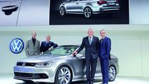VW New Compact Coupe Concept, Detroit, NAIAS, Klaus Bischoff, Walter de'Silva, Dr. Ulrich Hackenberg, Stefan Jacoby, 11.01.2010