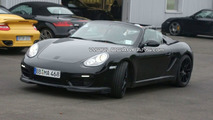 Porsche Boxster Speedster First Spy Photos with Open Top