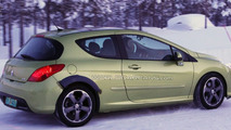 Peugeot 308 Sport or RC/Z Coupe Mule spy photo