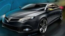 MG Rover MG6 Concept design sketches