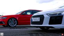 Audi RS6 drag races R8