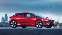 Jaguar I-Pace Concept dresses in red for European debut