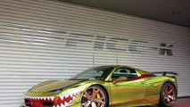 Ferrari 458 Spider Golden Shark by Office-K redefines tackiness