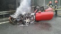 Ferrari FF bursts into flames in Poland