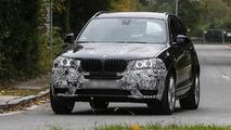 BMW X3 facelift spied