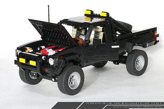 This Back to the Future LEGO Toyota 4x4 is Amazing