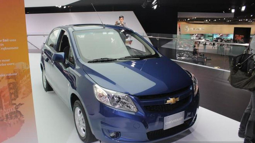 Chevrolet Sail sedan enters Detroit