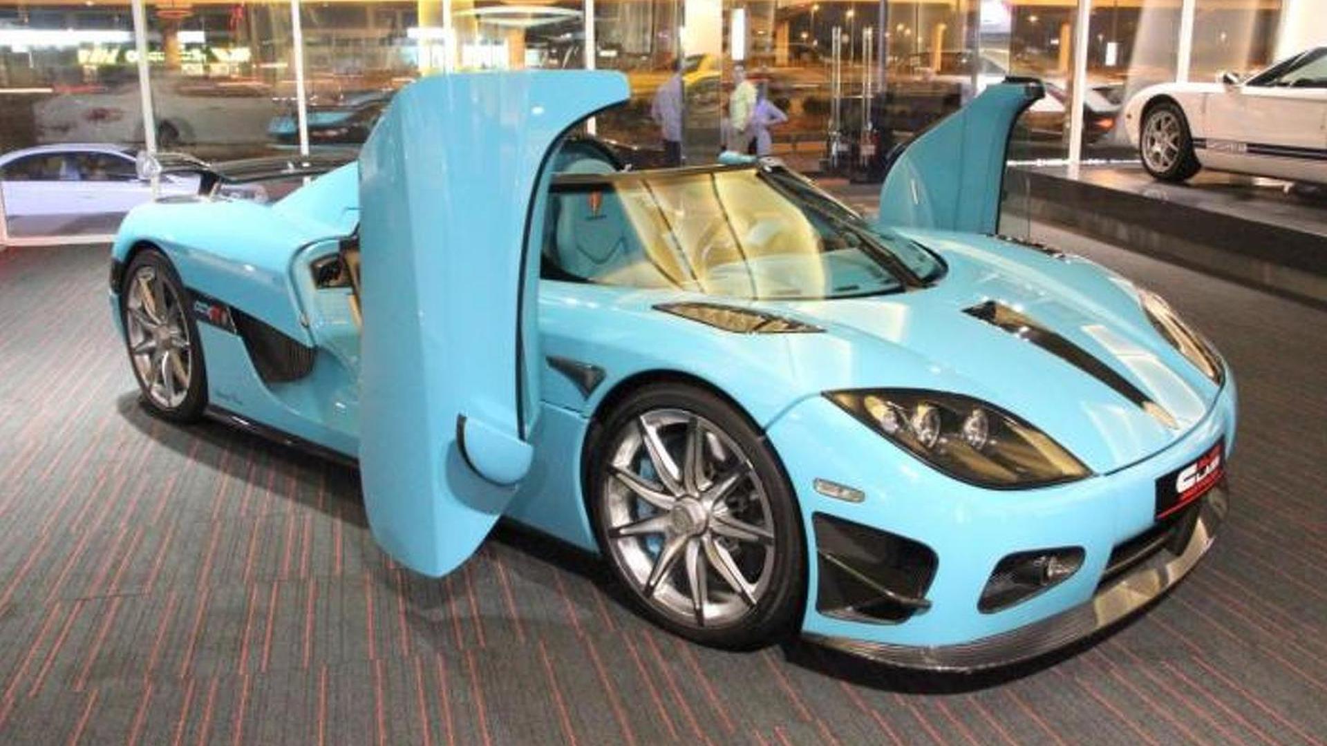 e off turquoise Koenigsegg CCXR for sale in Dubai