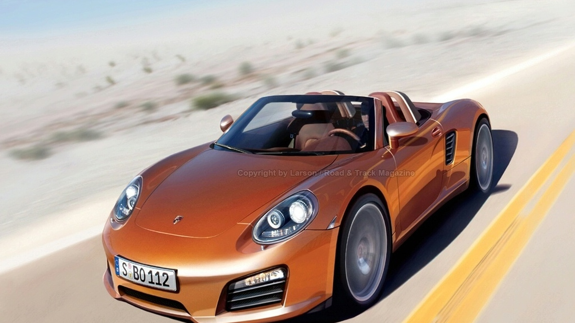 All-New 2011 Porsche Boxster Artist Rendering