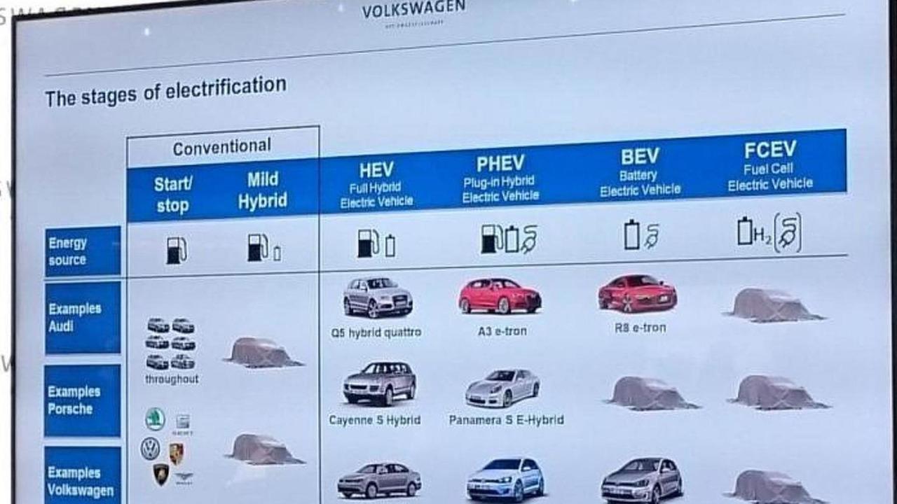 VAG alternatively-powered model roadmap