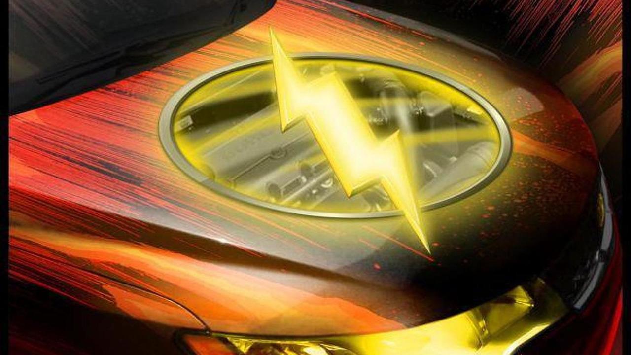Flash-themed Kia Forte Coupe for SEMA 19.10.2012