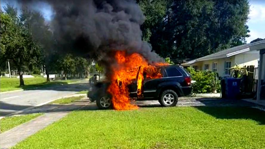 Recalled Samsung Galaxy Note 7 allegedly burns down Jeep Cherokee SRT8