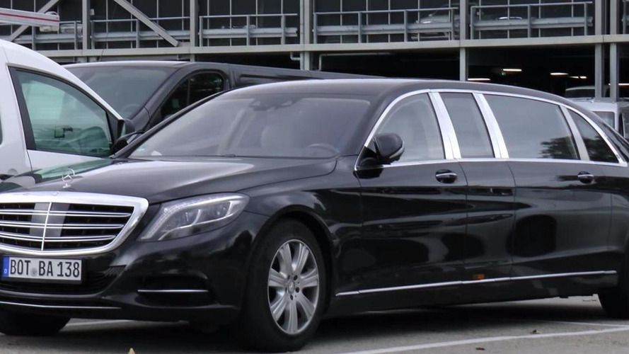 Mercedes-Maybach S600 Pullman spotted in Germany; needs two parking spaces [video]
