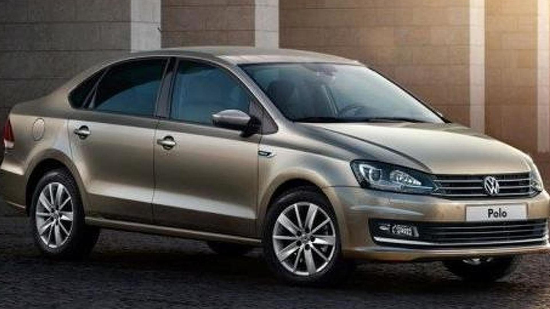 Volkswagen Polo sedan facelift revealed, goes on sale next month