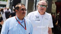 Sheikh Mohammed bin Essa Al Khalifa, CEO of the Bahrain Economic Development Board and McLaren Shareholder with Mansour Ojjeh, McLaren shareholder
