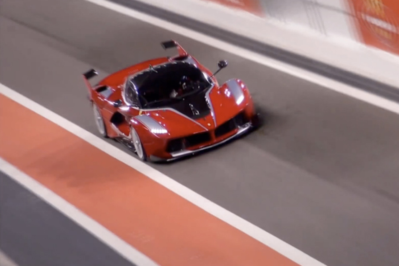 Watch the 1035HP Ferrari FXX K Scream on Track