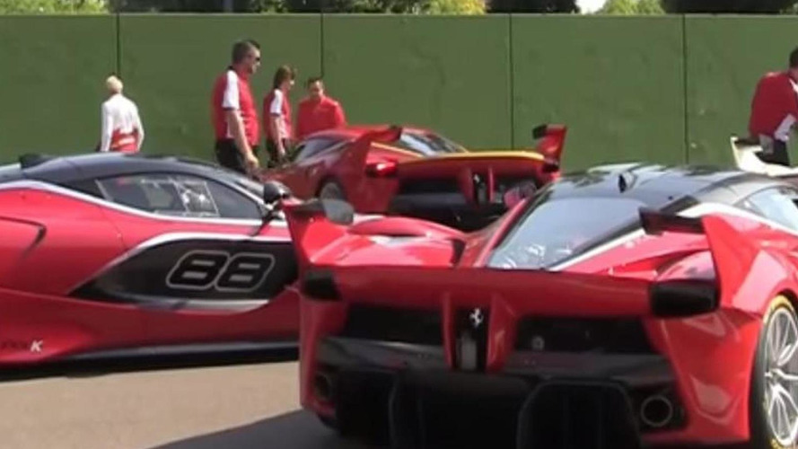 Quadruplet Ferrari FXX K stretches out at Imola [video]