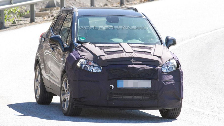 Opel Mokka facelift spied with a camouflaged front