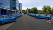 Leicester City players struggle to remember which BMW i8 is theirs