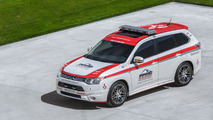 Mitsubishi Outlander & Lancer Evo safety vehicles unveiled for Pikes Peak Hill Climb