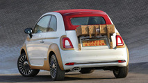 Fiat 500C facelift puts on a leather suit for charity purposes