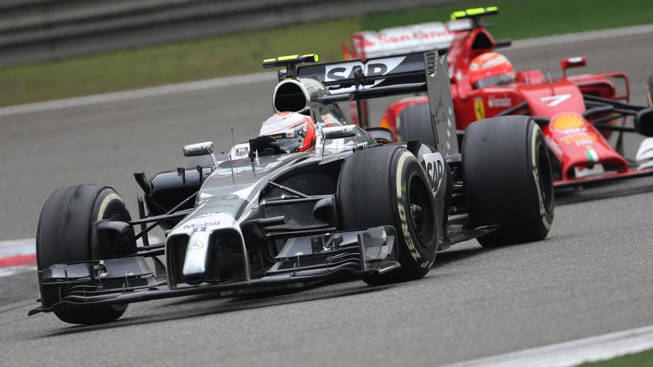 Kevin Magnussen (DEN) and Kimi Raikkonen (FIN), 20.04.2014, Chinese Grand Prix, Shanghai / XPB
