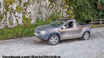 Dacia Duster pick-up spotted undisguised