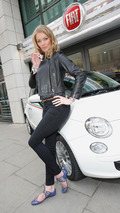Supermodel Jodie Kidd takes Fiat 500 on Eco-Test Drive