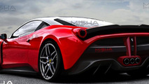 Ferrari 458 restyled by Misha Designs with FXX K influences