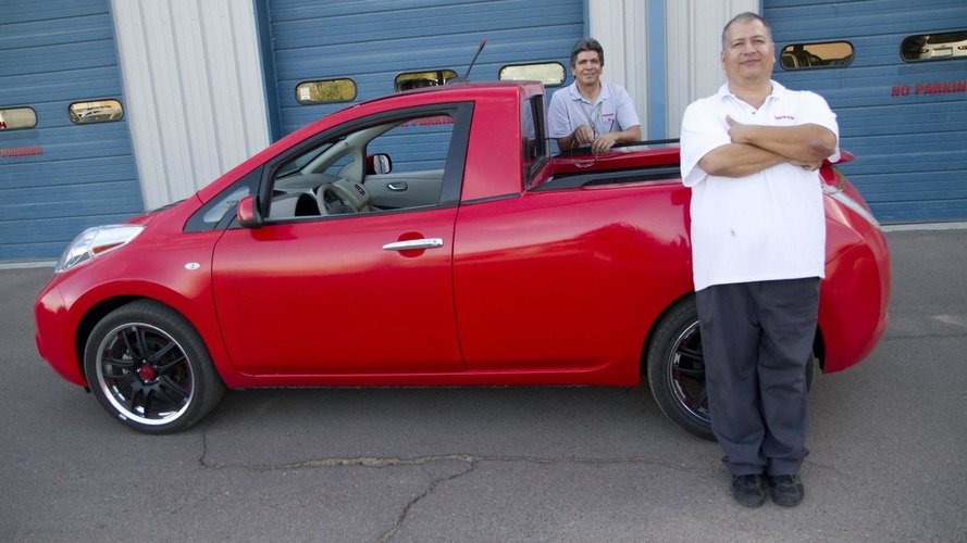 Nissan engineers marry LEAF and Frontier to build the Sparky [video]