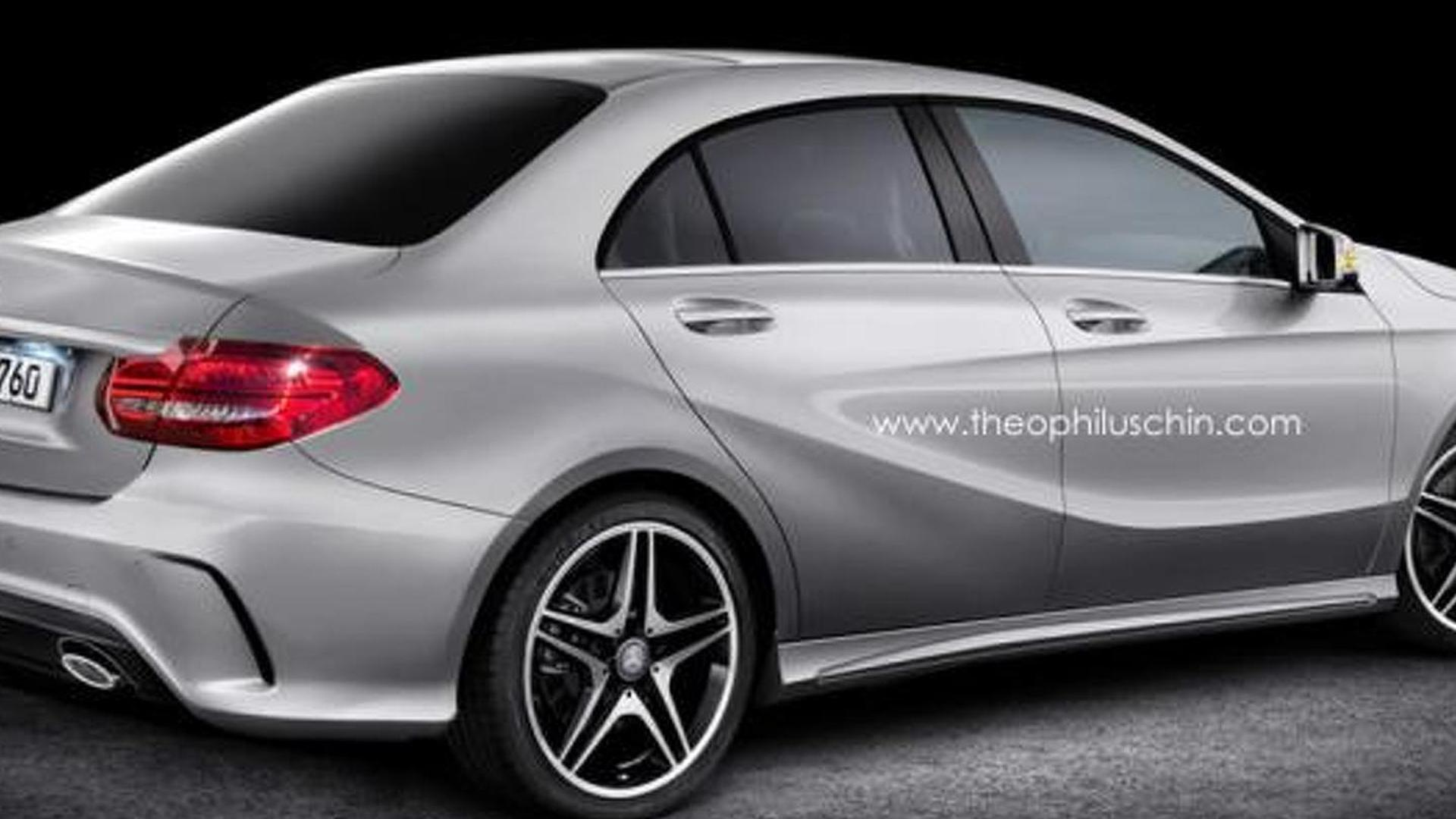 Mercedes-Benz A-Class Sedan envisioned as a smaller and cheaper CLA