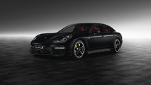 Porsche Exclusive dresses up a Panamera Turbo S in Jet Black Metallic