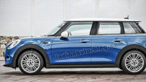 2014 MINI rendered as a five-door hatchback