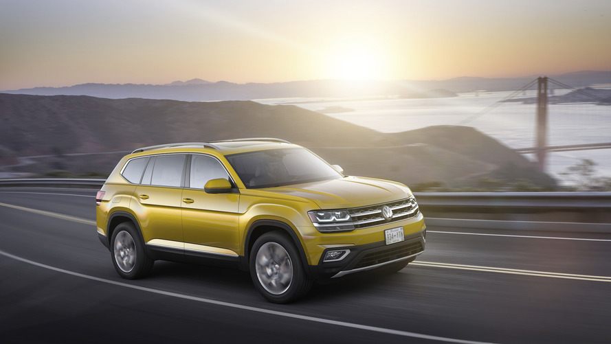 Volkswagen Atlas revealed with two engines, three rows