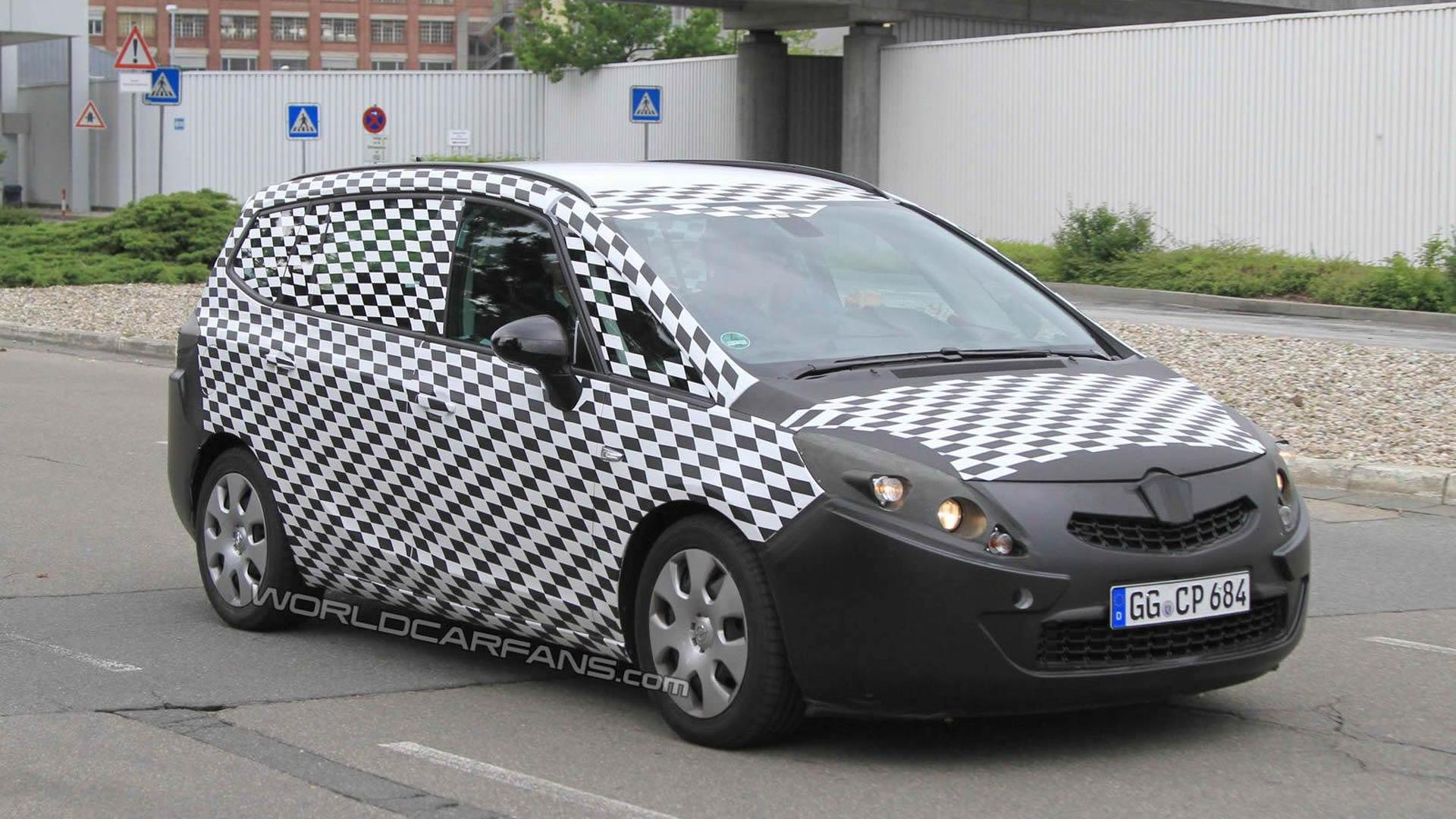 2012 opel zafira spied testing. Black Bedroom Furniture Sets. Home Design Ideas