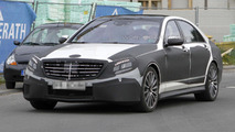 2013 Mercedes S63 AMG spied with less disguise