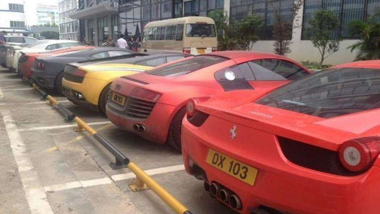 12 supercars seized by police in China