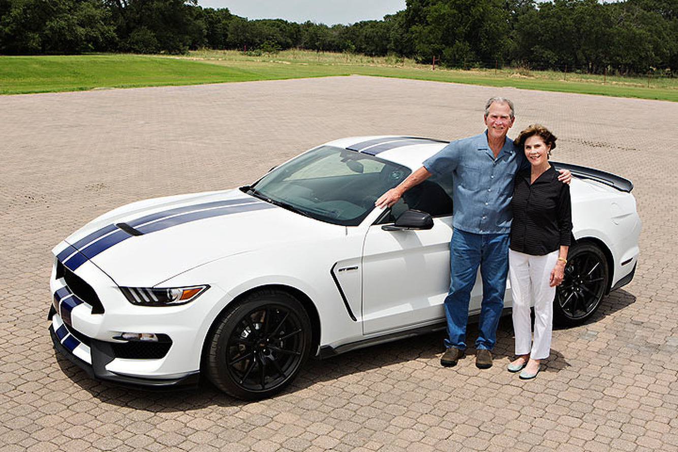Jay Leno Will Auction Off a Shelby GT350 Signed by George W. Bush