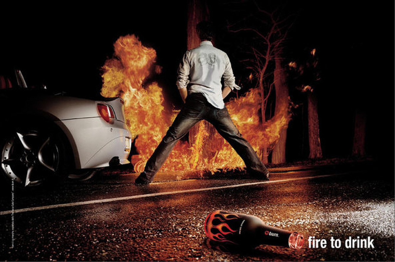 Drink Coca-Cola Energy Drink, Drive F1 Car, Piss Fire