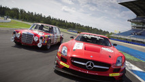 Mercedes-Benz SLS AMG GT3 and Mercedes-Benz 300 SEL 6.8 AMG at Spa 26.07.2011