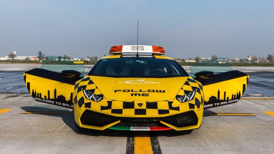 Lamborghini Huracan reporting for duty at Bologna airport