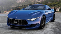 Maserati Alfieri rendered in production guise